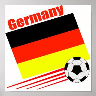 Equipo de fútbol alemán póster
