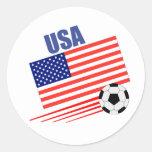 Equipo de fútbol americano pegatina redonda