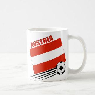 Equipo de fútbol austríaco taza de café