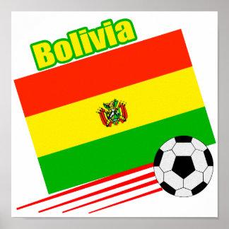 Equipo de fútbol boliviano póster