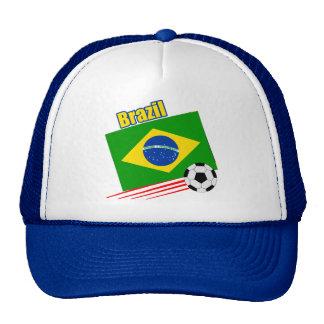 Equipo de fútbol brasileño gorros