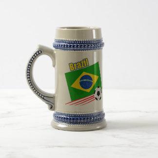 Equipo de fútbol brasileño jarra de cerveza