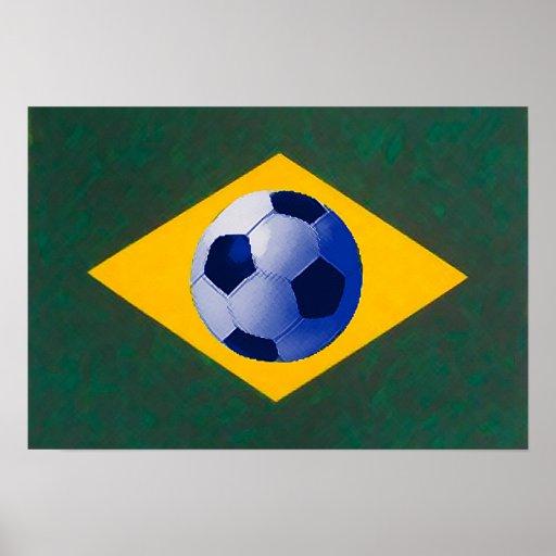 Equipo de fútbol brasileño posters