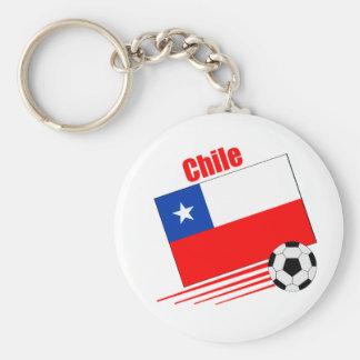 Equipo de fútbol chileno llavero redondo tipo pin
