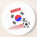 Equipo de fútbol coreano posavasos para bebidas