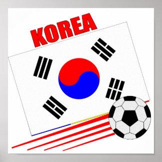 Equipo de fútbol coreano póster