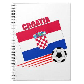Equipo de fútbol croata libreta espiral