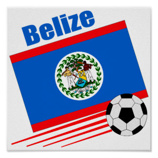 Equipo de fútbol de Belice Póster