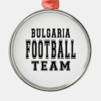 Equipo de fútbol de Bulgaria Adorno Redondo Plateado