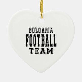 Equipo de fútbol de Bulgaria Adorno De Cerámica En Forma De Corazón