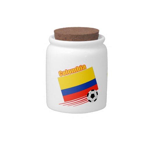 Equipo de fútbol de Colombia Jarra Para Caramelo