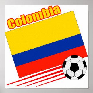 Equipo de fútbol de Colombia Póster