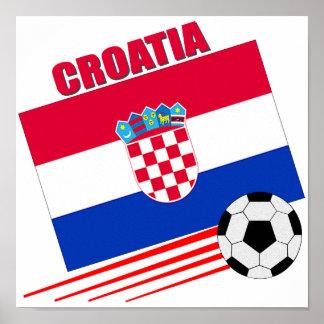 Equipo de fútbol de Croacia Póster