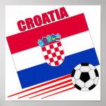 Equipo de fútbol de Croacia Posters