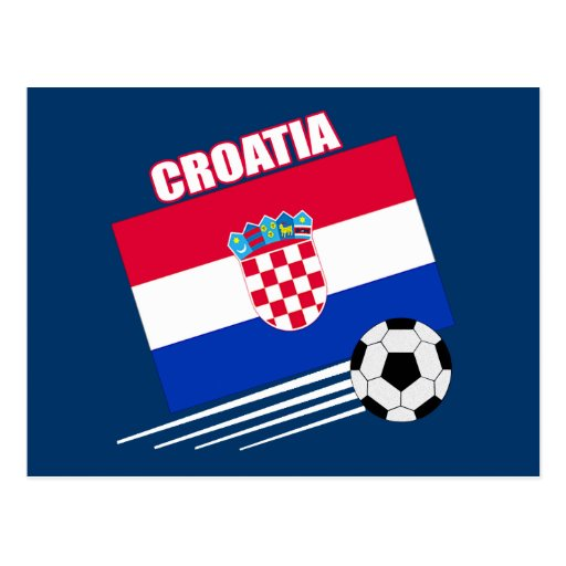 Equipo de fútbol de Croacia Tarjetas Postales