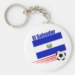 Equipo de fútbol de El Salvador Llavero Redondo Tipo Pin