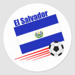 Equipo de fútbol de El Salvador Pegatina Redonda