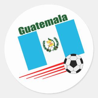 Equipo de fútbol de Guatemala Pegatinas Redondas