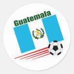 Equipo de fútbol de Guatemala Pegatina Redonda