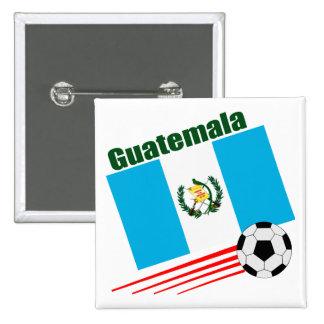 Equipo de fútbol de Guatemala Pin Cuadrada 5 Cm