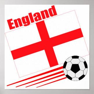 Equipo de fútbol de Inglaterra Póster