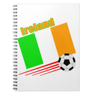 Equipo de fútbol de Irlanda Libretas Espirales