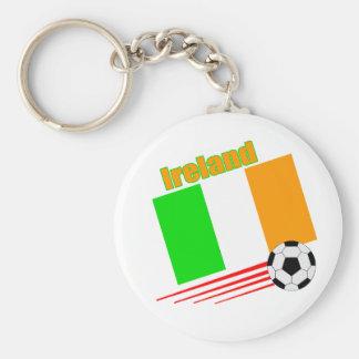 Equipo de fútbol de Irlanda Llavero Redondo Tipo Pin