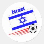 Equipo de fútbol de Israel Etiqueta Redonda