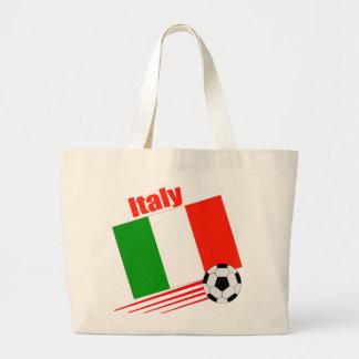 Equipo de fútbol de Italia Bolsa Tela Grande