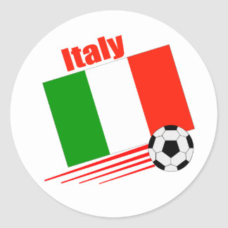 Equipo de fútbol de Italia Pegatina Redonda