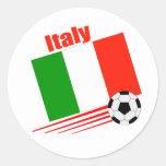 Equipo de fútbol de Italia Pegatinas Redondas