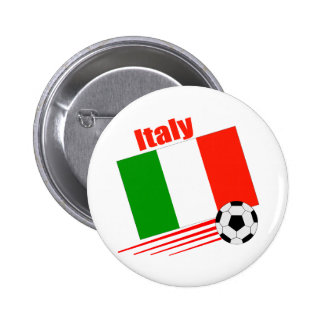 Equipo de fútbol de Italia Pin Redondo De 2 Pulgadas
