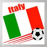 Equipo de fútbol de Italia Poster
