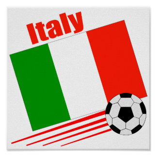 Equipo de fútbol de Italia Póster