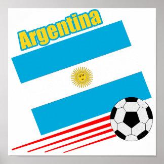 Equipo de fútbol de la Argentina Póster