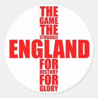 Equipo de fútbol de la bandera de Inglaterra Pegatina Redonda