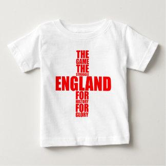 Equipo de fútbol de la bandera de Inglaterra Poleras