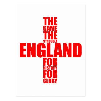 Equipo de fútbol de la bandera de Inglaterra Postales