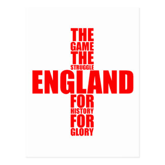 Equipo de fútbol de la bandera de Inglaterra Tarjetas Postales
