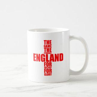 Equipo de fútbol de la bandera de Inglaterra Tazas