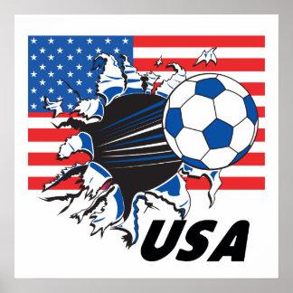 Equipo de fútbol de los E E U U Poster