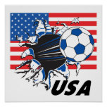 Equipo de fútbol de los E.E.U.U. Poster