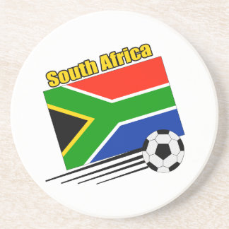 Equipo de fútbol de Suráfrica Posavasos Diseño