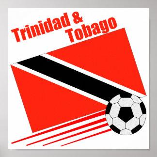 Equipo de fútbol de Trinidad y de Trinidad y Tobag Póster