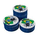 Equipo de fútbol del Brasil Fichas De Póquer