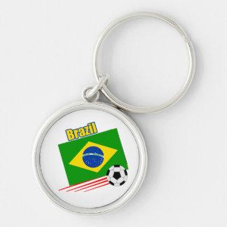 Equipo de fútbol del Brasil Llaveros Personalizados