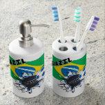 Equipo de fútbol del Brasil Vaso Para Cepillos De Dientes