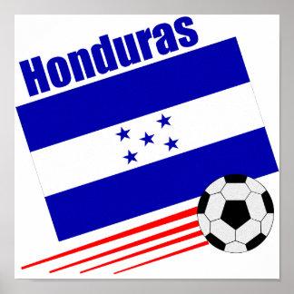 Equipo de fútbol del Honduran Póster
