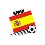 Equipo de fútbol español tarjeta postal