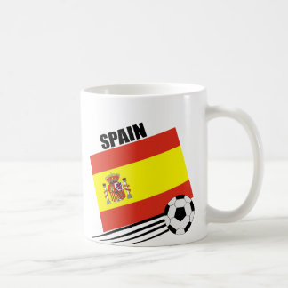 Equipo de fútbol español taza de café